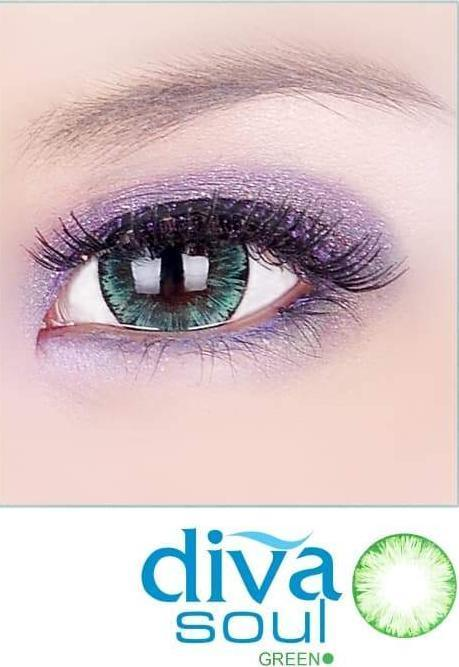 COLORED CONTACTS DIVA SOUL GREEN - Lens Beauty Queen