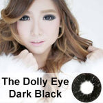 COLORED CONTACTS DOLLY EYE DARK BLACK - Lens Beauty Queen