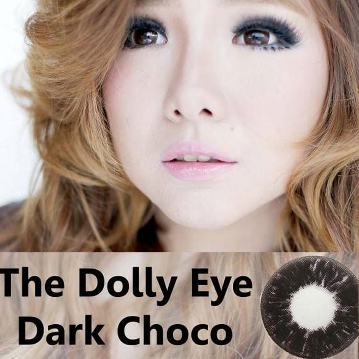 COLORED CONTACTS DOLLY EYE DARK CHOCO - Lens Beauty Queen