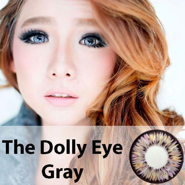 COLORED CONTACTS DOLLY EYE GRAY - Lens Beauty Queen