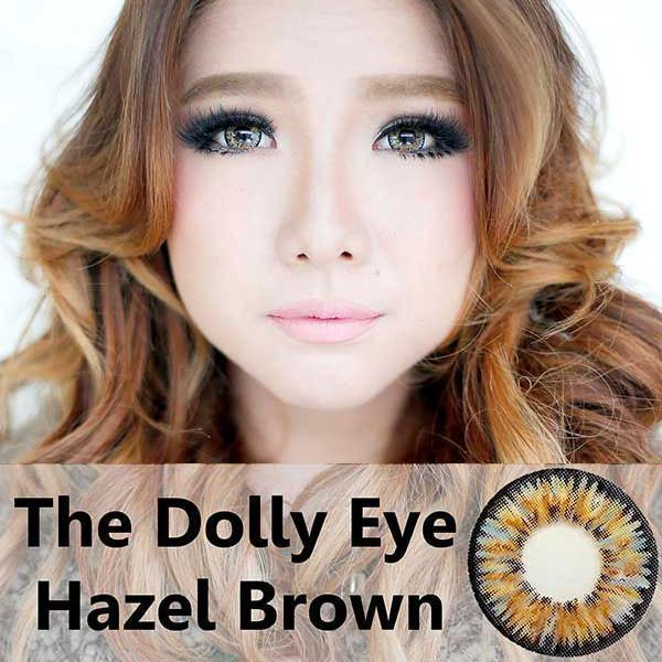 COLORED CONTACTS DOLLY EYE HAZEL BROWN - Lens Beauty Queen