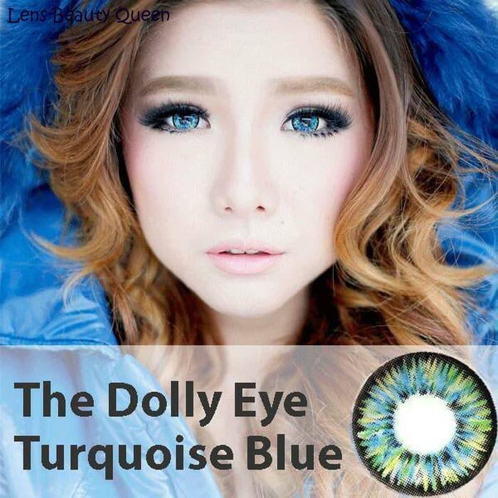 COLORED CONTACTS DOLLY EYE TURQUOISE BLUE - Lens Beauty Queen
