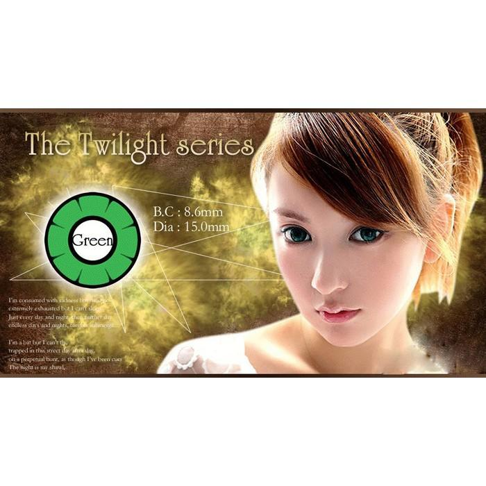 COLORED CONTACTS DOLLY EYE TWILIGHT GREEN - Lens Beauty Queen