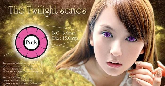 COLORED CONTACTS DOLLY EYE TWILIGHT PINK - Lens Beauty Queen