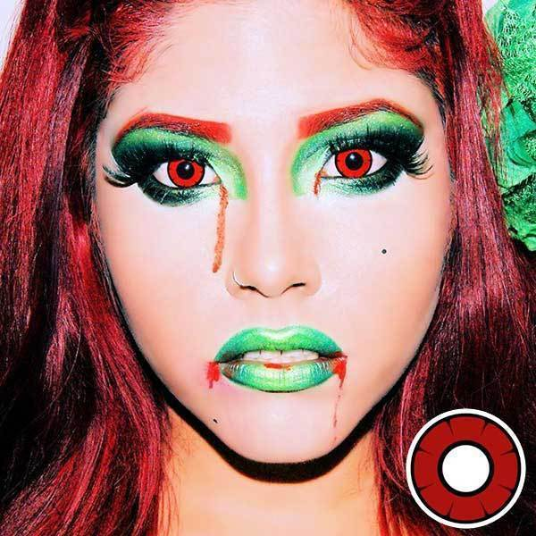 COLORED CONTACTS DOLLY EYE TWILIGHT RED - Lens Beauty Queen