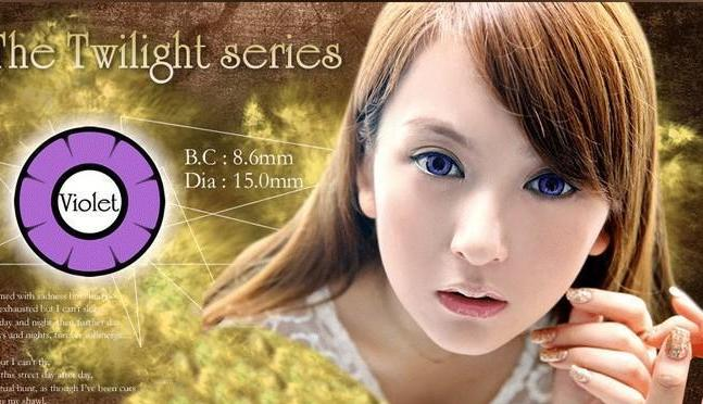 COLORED CONTACTS DOLLY EYE TWILIGHT VIOLET - Lens Beauty Queen