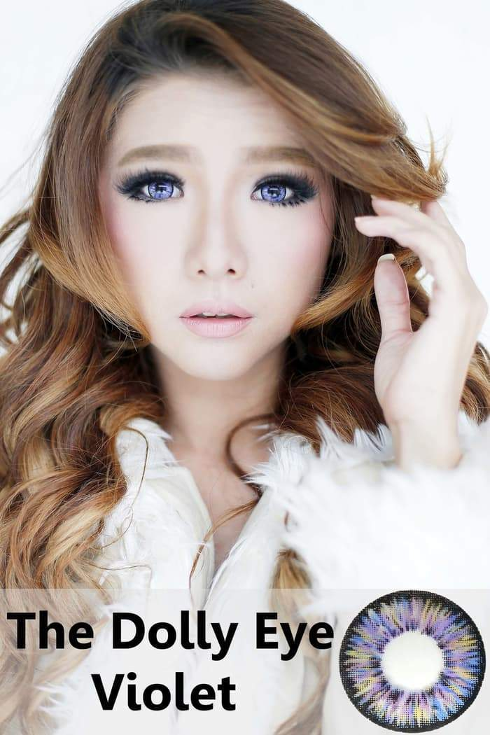COLORED CONTACTS DOLLY EYE VIOLET - Lens Beauty Queen