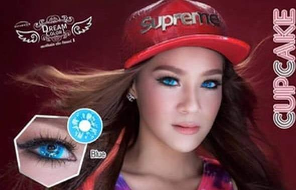 COLORED CONTACTS DREAM COLOR CUPCAKE BLUE - Lens Beauty Queen