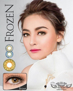 COLORED CONTACTS DREAM COLOR FROZEN BROWN - Lens Beauty Queen