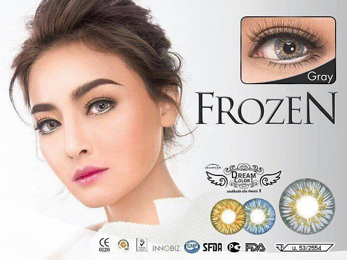 COLORED CONTACTS DREAM COLOR FROZEN GRAY - Lens Beauty Queen