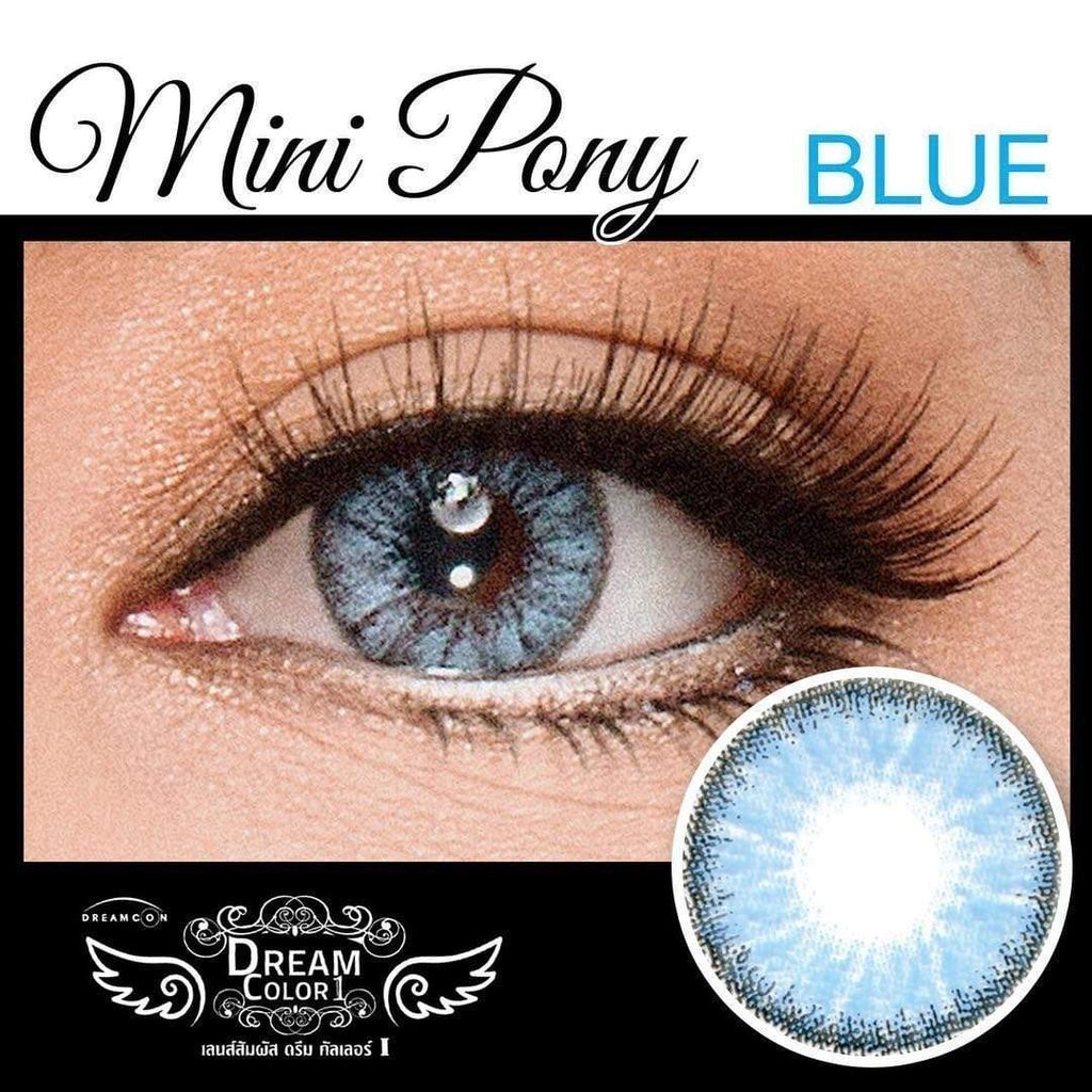 COLORED CONTACTS DREAM COLOR MINI PONY BLUE - Lens Beauty Queen