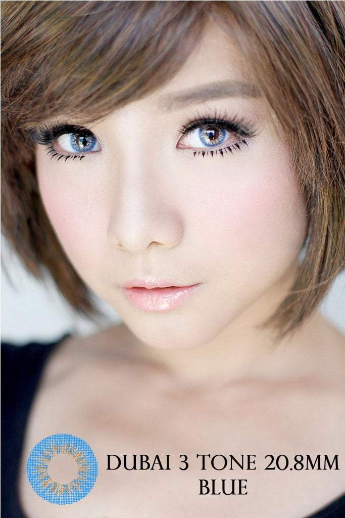 COLORED CONTACTS DUBAI 3TONES BLUE - Lens Beauty Queen