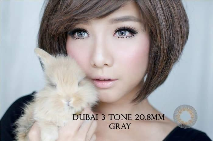 COLORED CONTACTS DUBAI 3TONES GRAY - Lens Beauty Queen