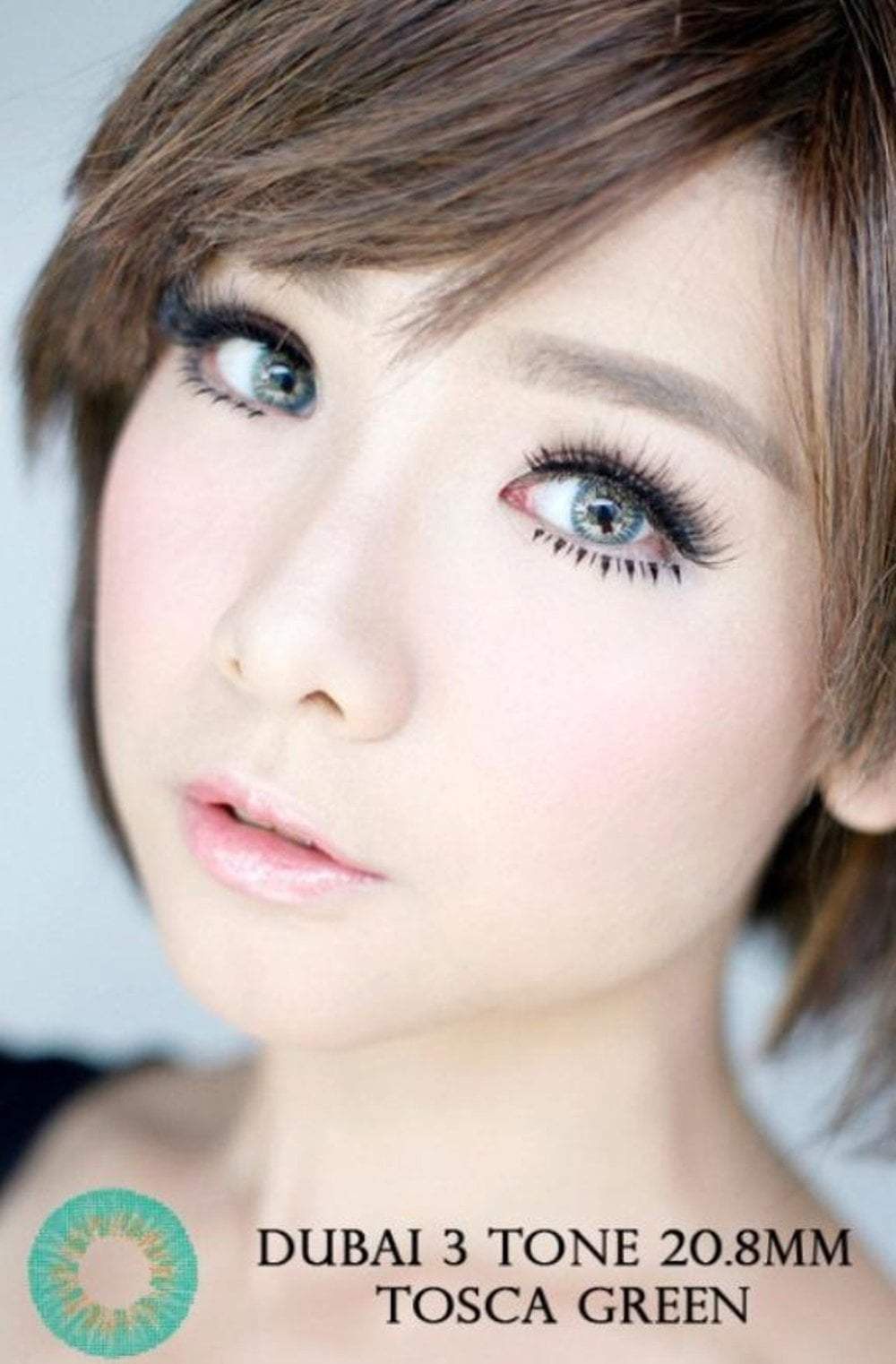 COLORED CONTACTS DUBAI 3TONES GREEN - Lens Beauty Queen
