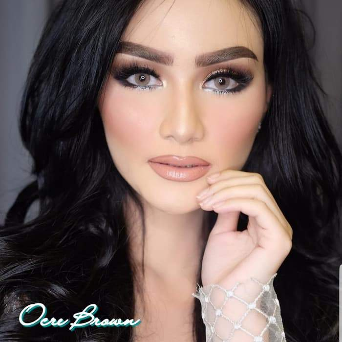 COLORED CONTACTS DUBAI GALAXY BROWN - Lens Beauty Queen