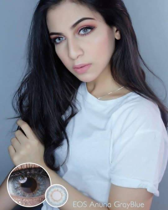 COLORED CONTACTS EOS ANUNA 3TONE GRAY BLUE - Lens Beauty Queen