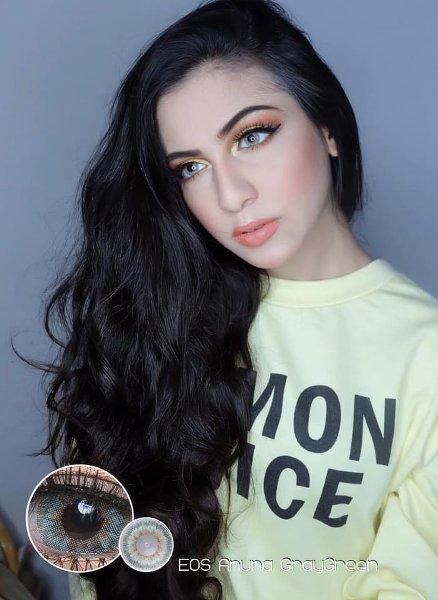 COLORED CONTACTS EOS ANUNA 3TONE GRAY GREEN - Lens Beauty Queen