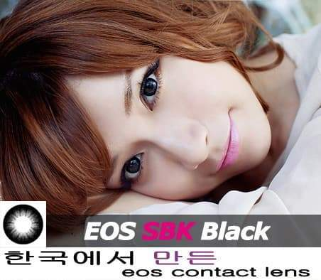 COLORED CONTACTS EOS BABY BLACK - Lens Beauty Queen
