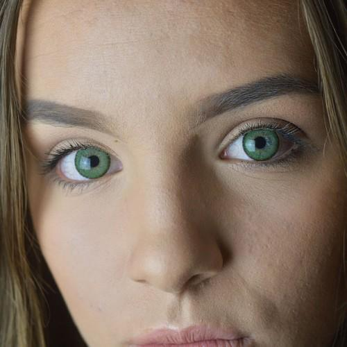 COLORED CONTACTS EOS BRILLER GREEN - Lens Beauty Queen
