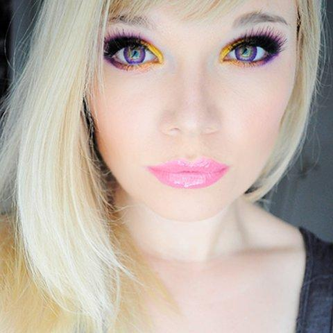 COLORED CONTACTS EOS BRILLER VIOLET - Lens Beauty Queen