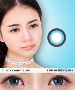 COLORED CONTACTS EOS CANDY SUGAR BLUE - Lens Beauty Queen