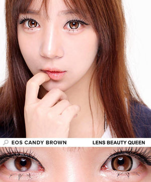 COLORED CONTACTS EOS CANDY SUGAR BROWN - Lens Beauty Queen
