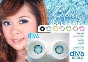 COLORED CONTACT DIVA SOUL BLUE - Lens Beauty Queen