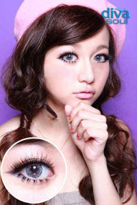 COLORED CONTACTS DIVA SOUL GRAY - Lens Beauty Queen