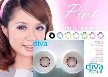 COLORED CONTACTS DIVA SOUL PINK - Lens Beauty Queen