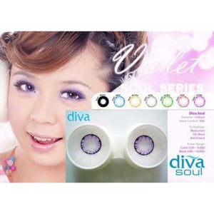 COLORED CONTACTS DIVA SOUL VIOLET - Lens Beauty Queen