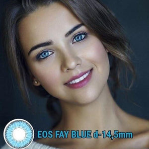 COLORED CONTACTS EOS FAY BLUE - Lens Beauty Queen