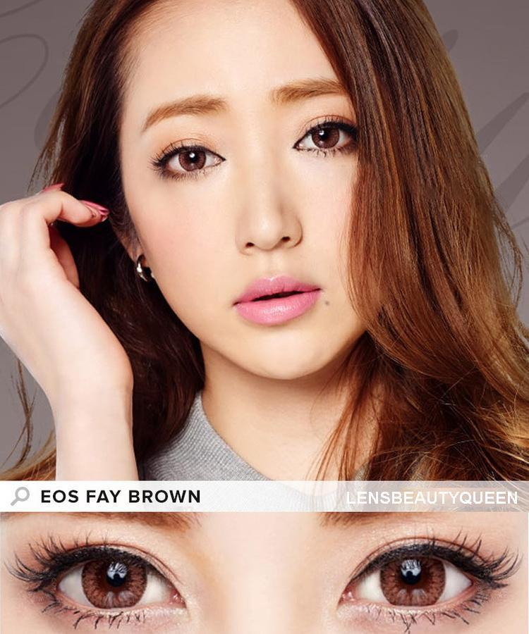 COLORED CONTACTS EOS FAY BROWN - Lens Beauty Queen