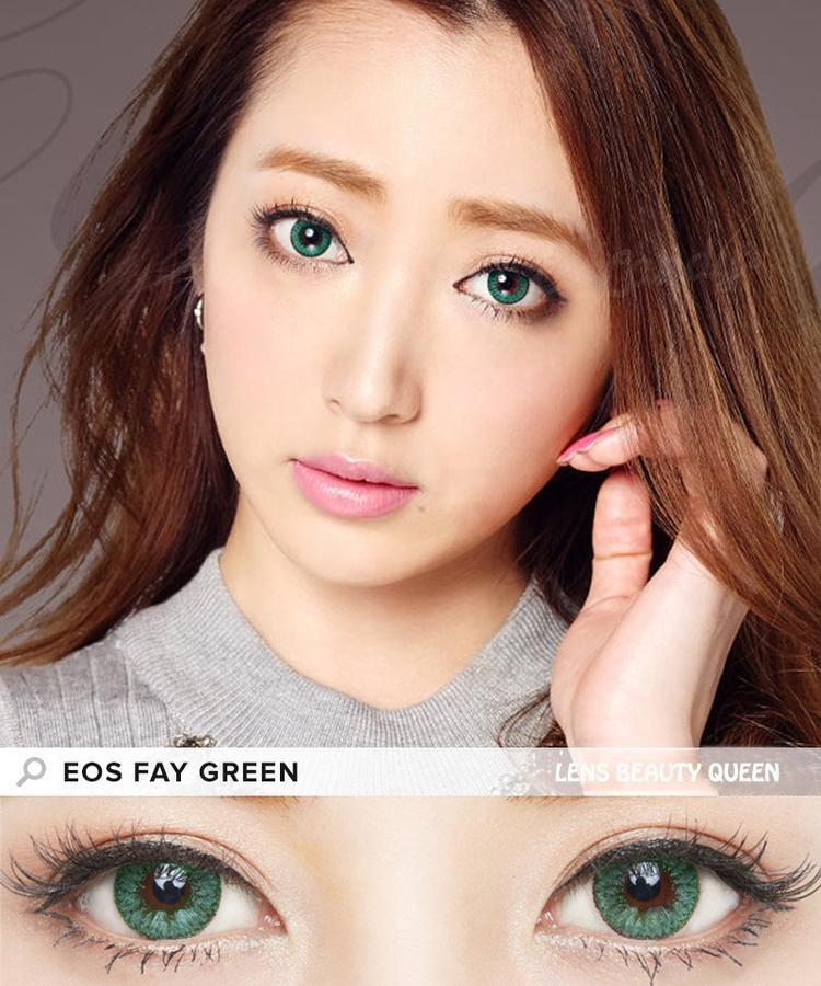 COLORED CONTACTS EOS FAY GREEN - Lens Beauty Queen