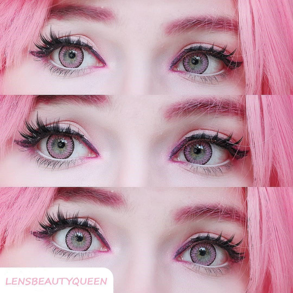 COLORED CONTACTS EOS FAY PINK - Lens Beauty Queen