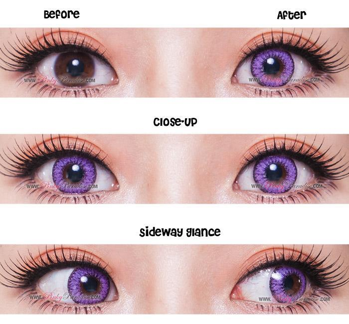 COLORED CONTACTS EOS FAY VIOLET - Lens Beauty Queen