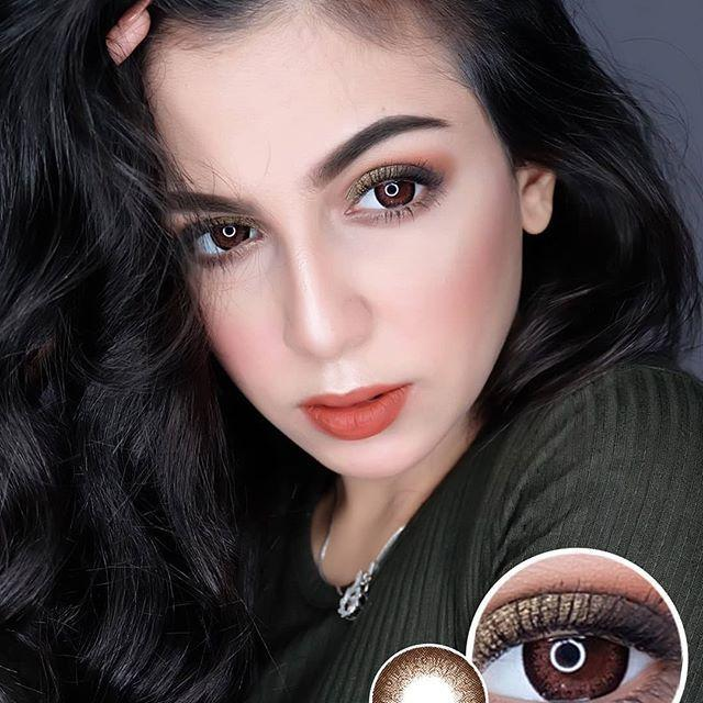 COLORED CONTACTS EOS LATTE BROWN - Lens Beauty Queen