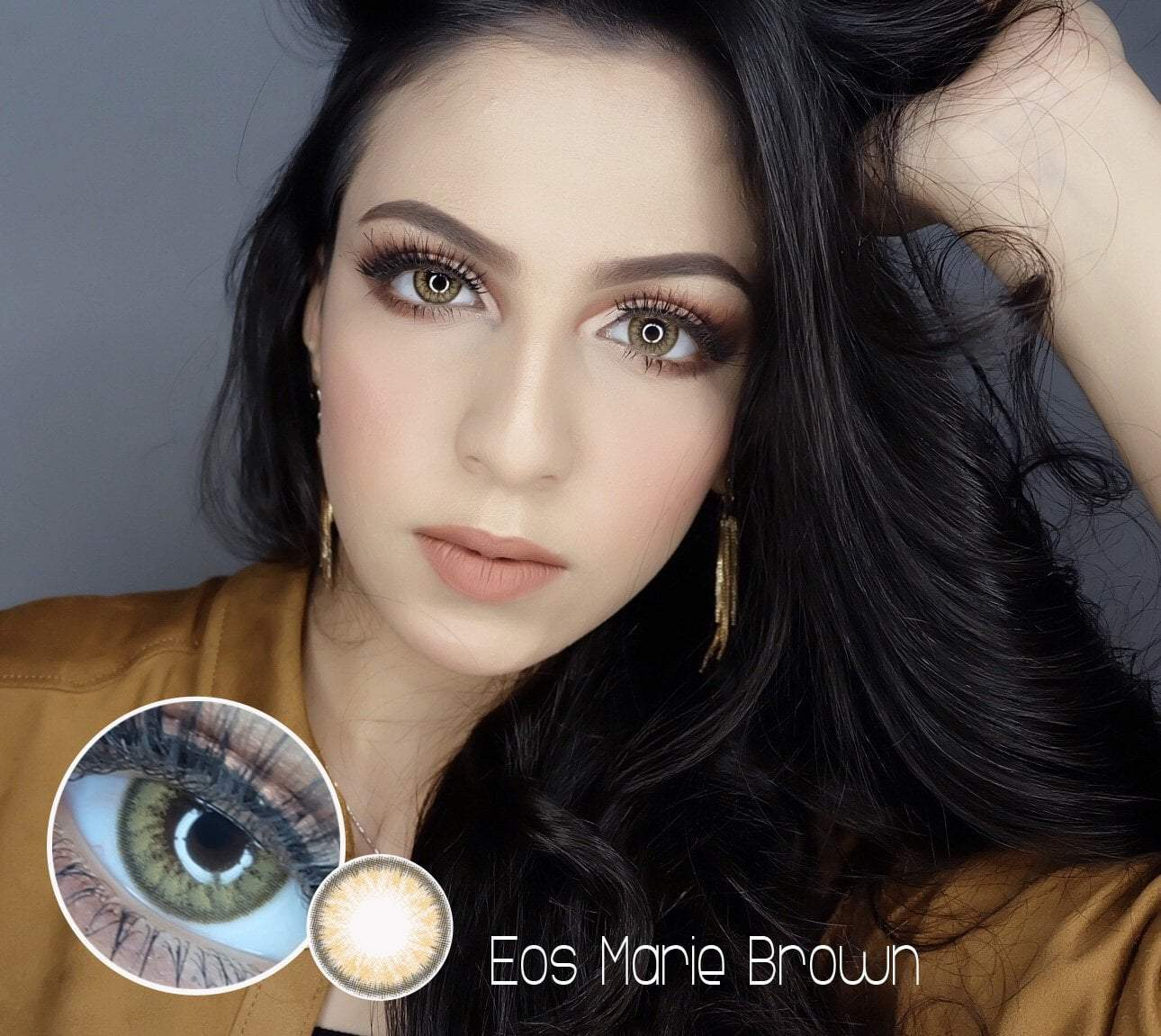 COLORED CONTACTS EOS MARIE BROWN - Lens Beauty Queen