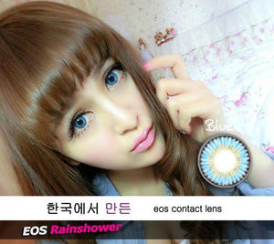 COLORED CONTACTS EOS RAINSHOWER BLUE - Lens Beauty Queen
