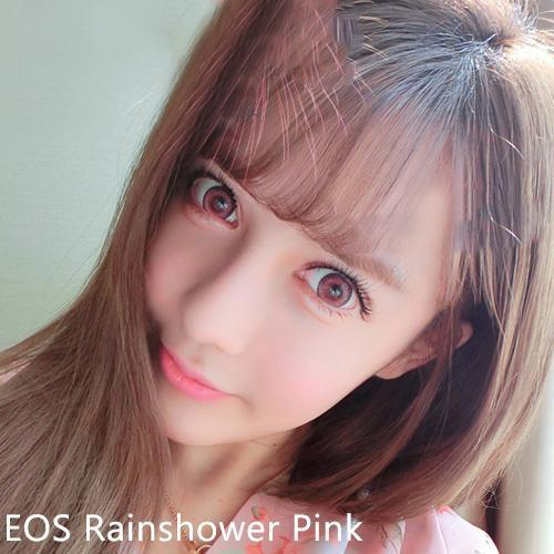 COLORED CONTACTS EOS RAINSHOWER PINK - Lens Beauty Queen
