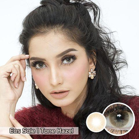 COLORED CONTACTS EOS SOLE 1TONE HAZEL - Lens Beauty Queen
