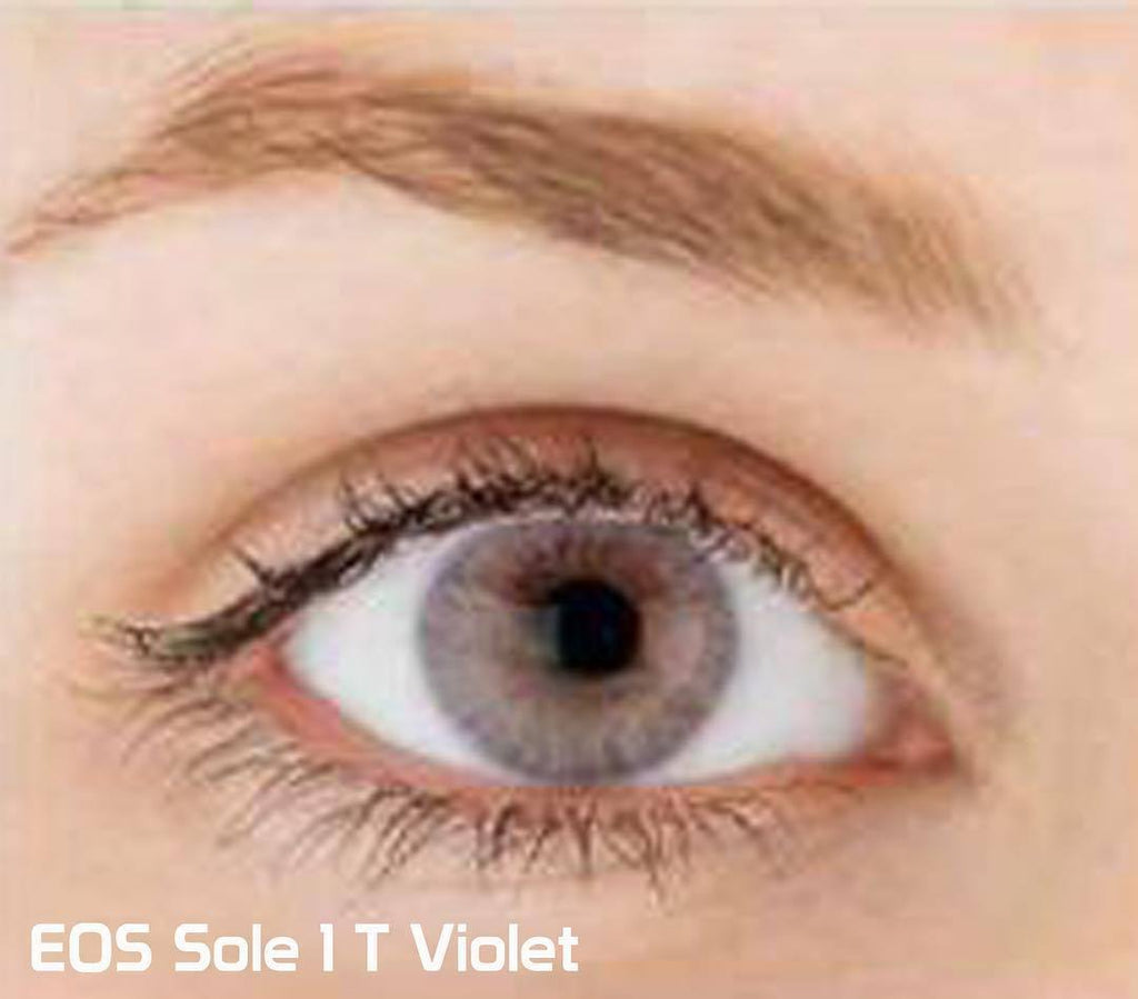 COLORED CONTACTS EOS SOLE 1TONE VIOLET - Lens Beauty Queen