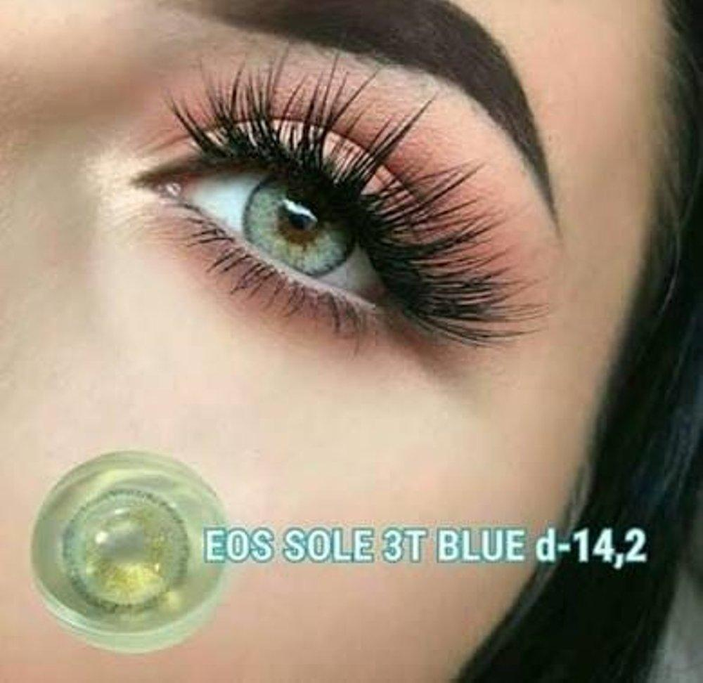 COLORED CONTACTS EOS SOLE 3TONE BLUE - Lens Beauty Queen