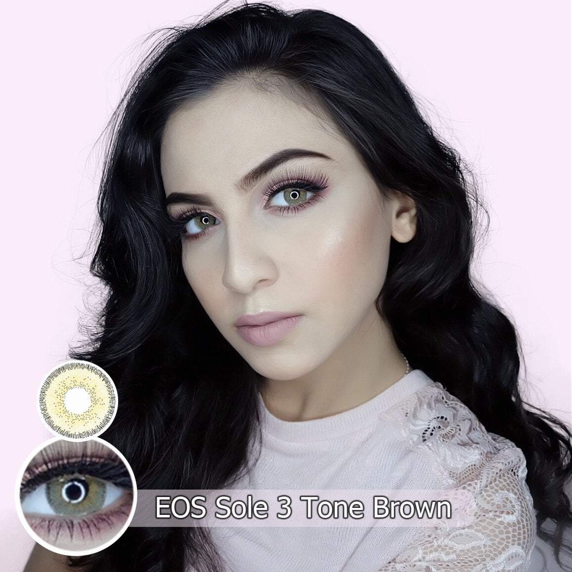 COLORED CONTACTS EOS SOLE 3TONE BROWN - Lens Beauty Queen