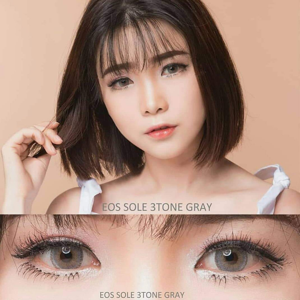 COLORED CONTACTS EOS SOLE 3TONE GRAY - Lens Beauty Queen