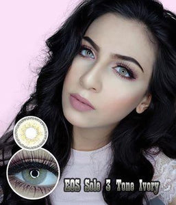 COLORED CONTACTS EOS SOLE 3TONE IVORY - Lens Beauty Queen