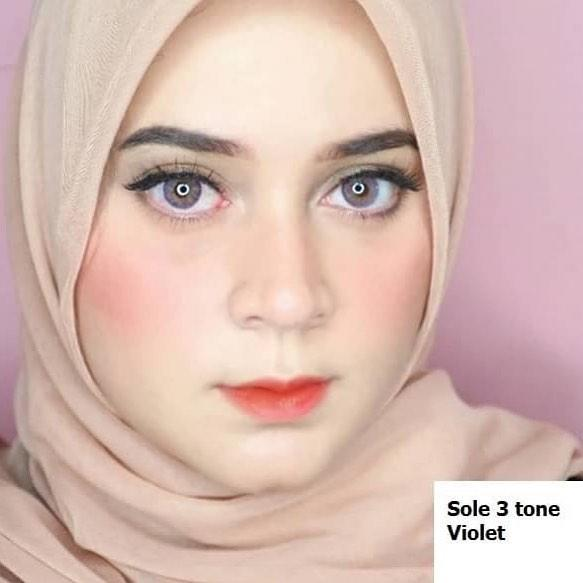 COLORED CONTACTS EOS SOLE 3TONE VIOLET - Lens Beauty Queen