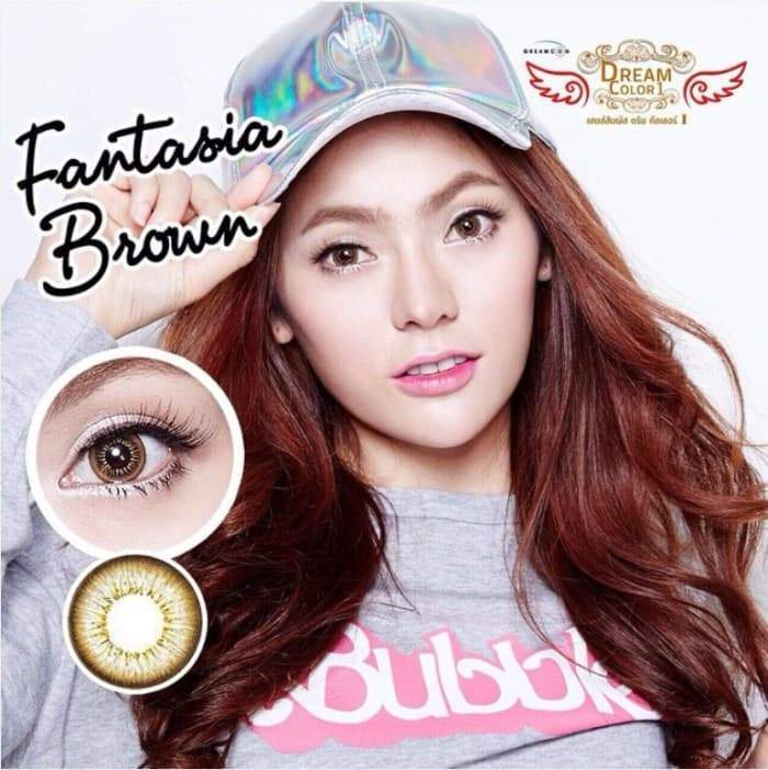 COLORED CONTACTS FANTASIA BROWN - Lens Beauty Queen