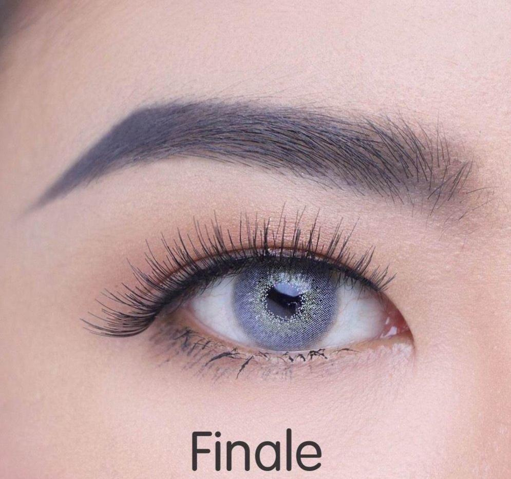 COLORED CONTACTS FINALE GRAY - Lens Beauty Queen