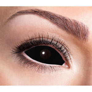 COLORED CONTACTS FULL EYES SCLERA BLACK - Lens Beauty Queen