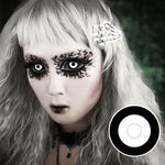COLORED CONTACTS FULL EYES SCLERA DARK DRACULA - Lens Beauty Queen
